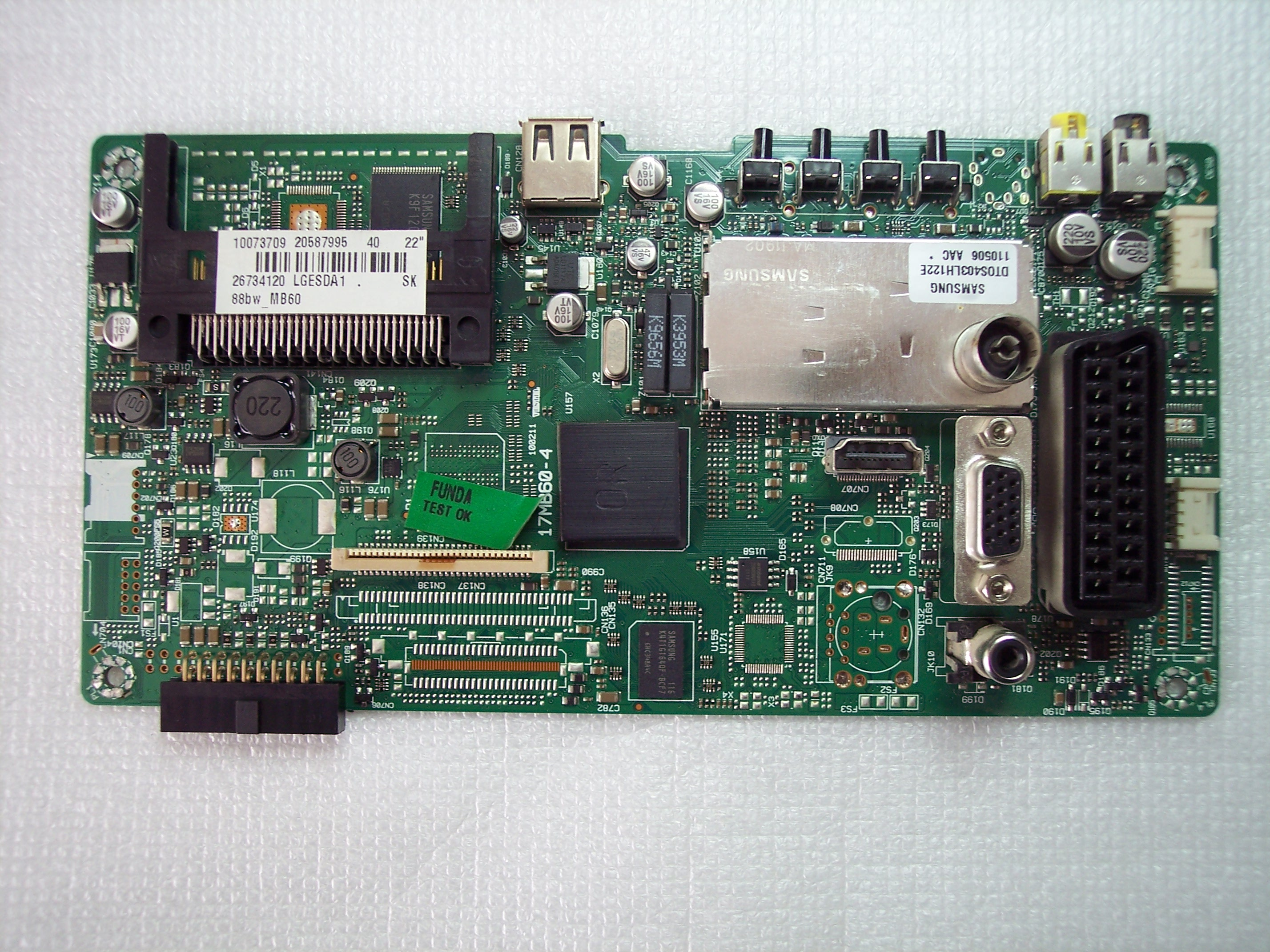 "20587995 , 17MB60-4 VESTEL orava LT-610 22"" TV"